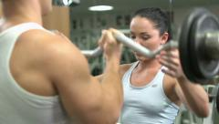 Barbell Stock Footage