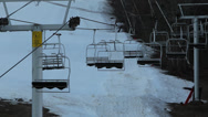 Stock Video Footage of Chairlift Stopped