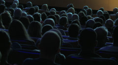 Movie theatre spectators Stock Footage