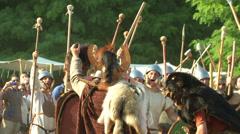Stock Video Footage of celt roman battle final 68