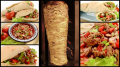 Doner kebab collage Stock Footage