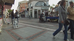 Old city center of Edirne Turkey Stock Footage