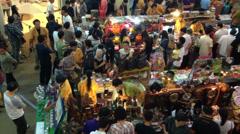 Bangkok Thailand   November 3, 2013 thai Food Festival Stock Footage