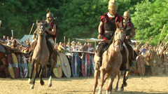 Celt roman cavalry 01 Stock Footage