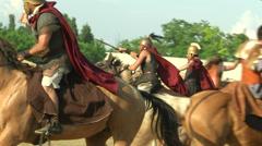 Celt roman cavalry 02 Stock Footage