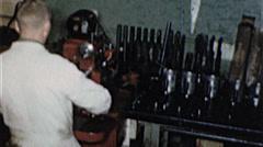 Mechanic ENGINE REBUILD Machine Auto Repair 1960s Vintage Film Home Movie 7279 - stock footage