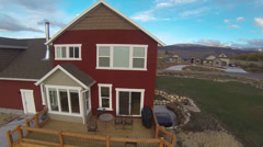 An aerial view of a house Stock Footage