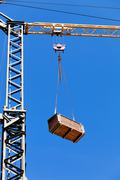 mast crane - stock photo