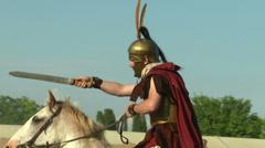 Celt roman cavalry 04 Stock Footage