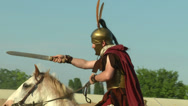 Stock Video Footage of celt roman cavalry 04