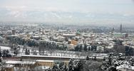Stock Photo of beautiful view of the city of vicenza after an abundant snowfall