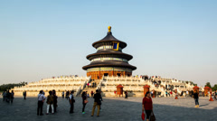 Different view of the Qinian Palace in Temple of Heaven, Beijing, China Stock Footage