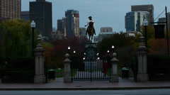 Boston Public Gardens Gate - stock footage