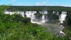 Iguaçu Falls 001 Stock Footage