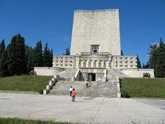Majestic memorial for the fallen soldiers of world war i in italy Stock Photos