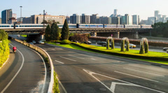 The Second Ring Road traffic in Beijing, China Stock Footage