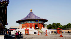 The corridor and the Qinian Palace in the Temple of Heaven Stock Footage