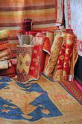Shop elegant oriental rugs on sale for elite clients Stock Photos