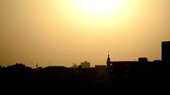 Sunrise over Khartoum, Sudan Stock Footage