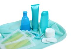 items for cleanliness and hair-removing - stock photo