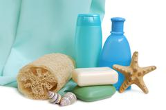 items for cleanliness - stock photo