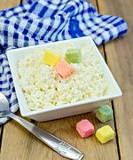 curd with colored sugar - stock photo