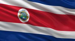 Flag of Costa Rica - stock photo