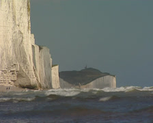White cliffs Belle Tout lighthouse - stock footage