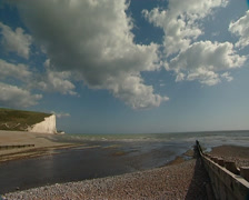 Estuary with white Cliffs Stock Footage