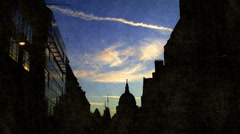 London Pictorial shot. St Paul´s Cathedral Stock Footage