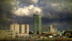 London Pictorial Landscape Stock Footage