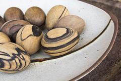 wood egg - stock photo