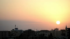 Sunrise over Khartoum, Sudan Stock Footage