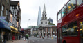 Ultra HD 4K Double Decker Bus Church St George Martyr Shard London Bridge Tower Footage