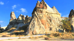 Fairy chimney in cappadocia Stock Footage