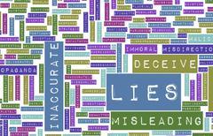 lies - stock illustration