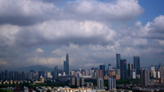 Overlooking at Shenzhen City, China Stock Footage