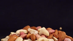 nuts slow motion - stock footage