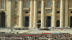 Popes Speech In Front of San Pietro Stock Footage