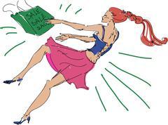 Sparkling shopping Stock Illustration