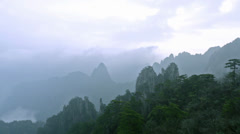 Yellow Mountain in Anhui, China Stock Footage