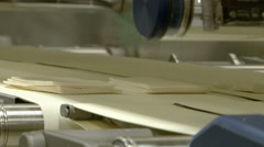 Cheese food industry packaging Assembly Line, Closeup Stock Footage