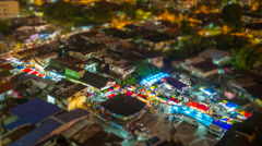 Timelapse Diorama Night Market Stock Footage