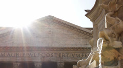 Roman Pantheon in the Sunshine - stock footage