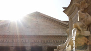 Stock Video Footage of Roman Pantheon in the Sunshine