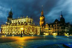 hofkirche - stock photo