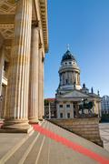 Columns at the Gendarmenmarkt - stock photo