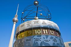 Weltzeituhr on Alexanderplatz - stock photo