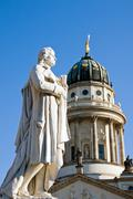 Schiller at the Gendarmenmarkt - stock photo