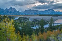 Snake river overlook - grand teton national park Stock Photos